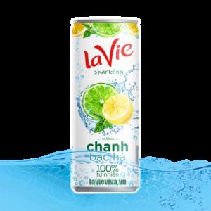 Nước Chanh LaVie Bạc hà tự nhiên lon 330ml