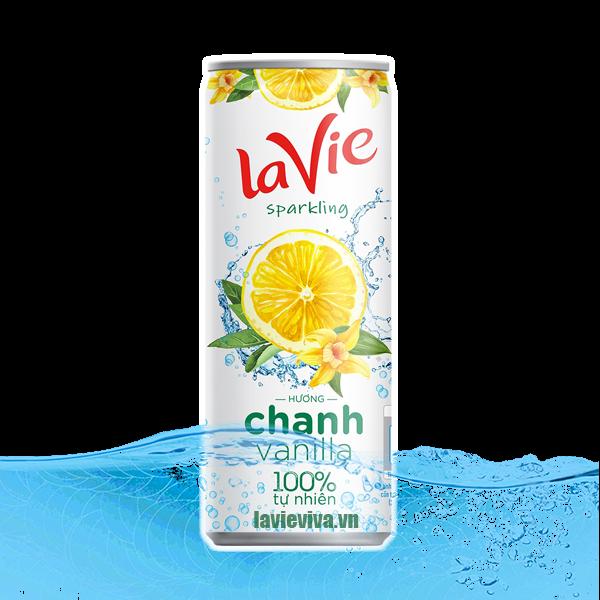 Nước Chanh LaVie hương Vanilla tự nhiên lon 330ml