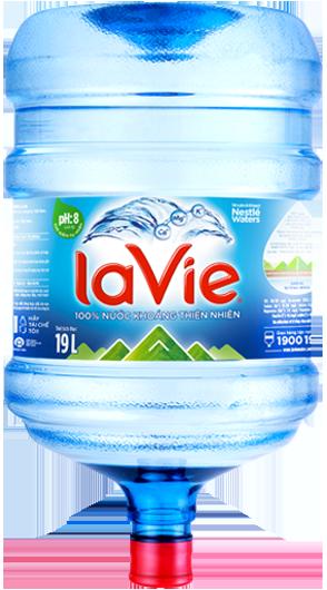 Nước khoáng LaVie 19 lít logo mới